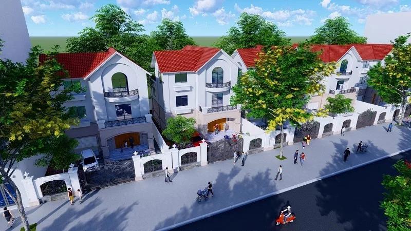 Phối cảnh 3D khu biệt thự Kim Chung Di Trạch