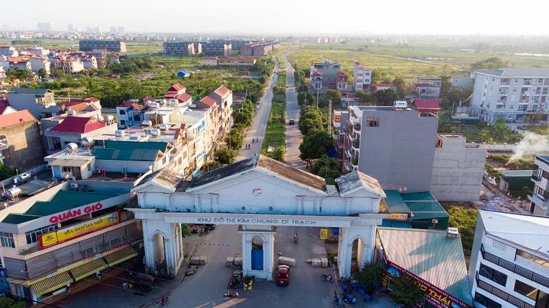 Cổng vào khu đô thị Kim Chung Di Trạch