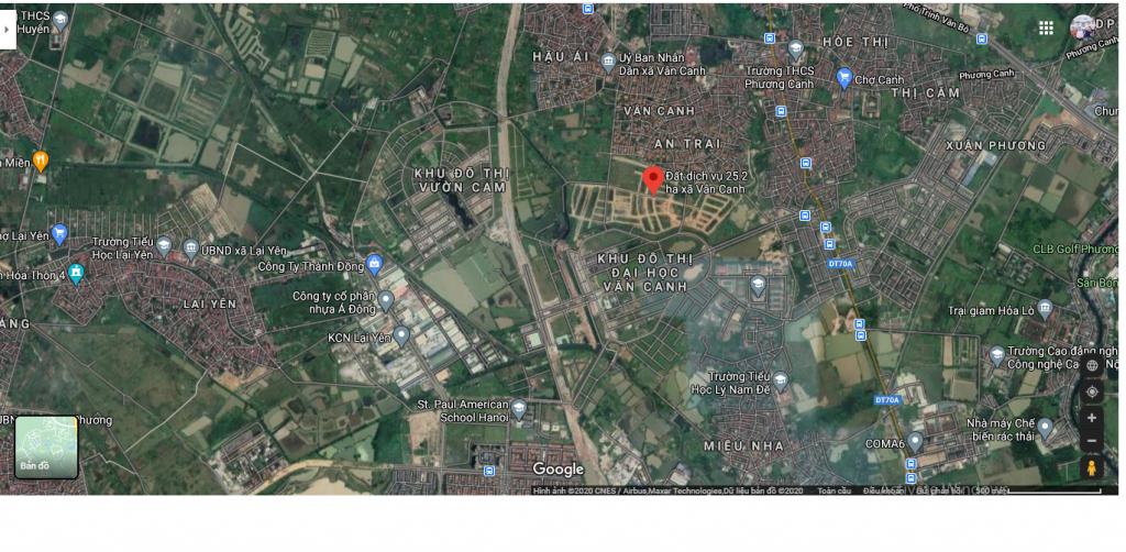 đất dịch vụ xã Vân Canh