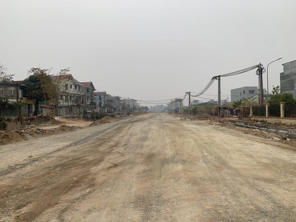 đường 40 m nối dịch vụ Lại Yên với các khu đô thị Vân Canh